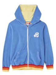 St.Bert's zip-up hoodie marina blue