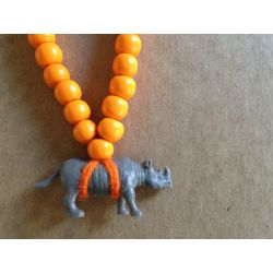 Pray4Trax Necklace Rhino (orange)